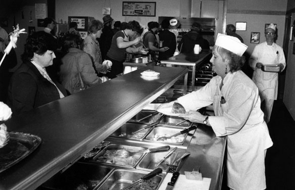 Clark's Culinary Arts' buffet line hasn't been updated in more than three decades. The current area lacks an inviting space for people to gather.