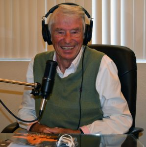 Former US. Rep. Don Bonker in the studio at Clark College Foundation in September 2020 taping the interview for his podcast.