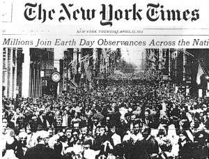 A national paper on the first Earth Day in April 1970.